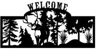 Welcome sign, Deer Looking Back 1
