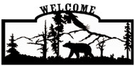 Welcome sign, Bear and Eagle