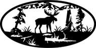 Oval Insert, Moose Standing