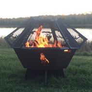 Octagon Fire Pit Spark Screen 30""