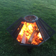 Octagon Fire Pit Spark Screen 36""
