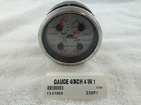 GAUGE 4-IN-1 OIL/TEMP/VOLT/TRIM - 13.01863