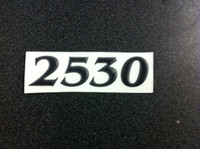 2530 PARKER HULL DESIGNATION DECAL