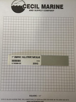 "1"" GRAPHIC / HULL STRIPE TAPE SILVER - Sorry, this item is no longer available"