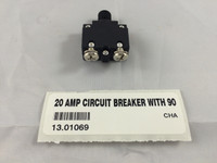 20 AMP CIRCUIT BREAKER WITH 90 DEGREE TERMINALS