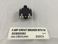 6 AMP CIRCUIT BREAKER WITH 90 DEGREE TERMINALS