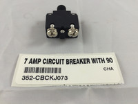 7 AMP CIRCUIT BREAKER WITH 90 DEGREE TERMINALS