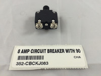 8 AMP CIRCUIT BREAKER WITH 90 DEGREE TERMINALS