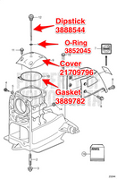 GASKET FOR COVER 3889782  ** IN STOCK & READY TO SHIP! **