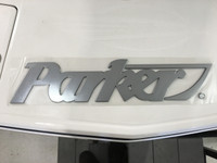 "PARKER CHROME LOGO - 30"" Long   6 1/2"" high"
