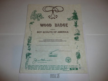 1994 Wood Badge Training Certificate, blank