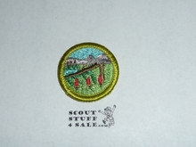 Wilderness Survival - Type H - Fully Embroidered Plastic Back Merit Badge (1972-2002)