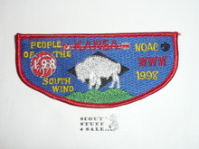 Order of the Arrow Lodge #198 Kansa s2 1998 NOAC Flap Patch