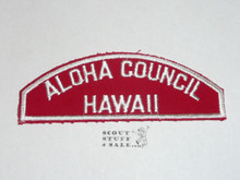 Aloha Council Red/White Council Shoulder Patch - Boy Scout