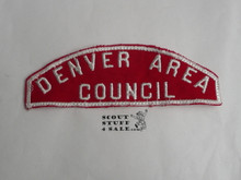 Denver Area Council Red/White Council Strip, lite use