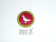 Pigeon Raising - Type H - Fully Embroidered Plastic Back Merit Badge (1971-2002)