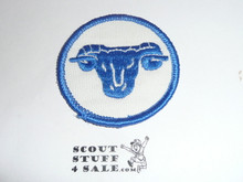 Ram Patrol Medallion, White Twill with gauze back, 1972-1989
