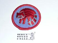 Racoon Patrol Medallion, Blue Twill with gauze back, 1972-1989