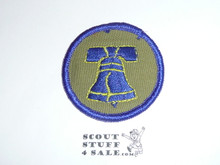Liberty Patrol Medallion, Grey Twill with gauze back, 1972-1989