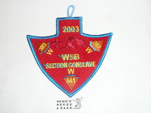 Section / Area W5B Order of the Arrow Conference Patch, 2003