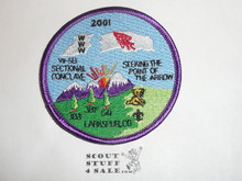Section / Area W5B Order of the Arrow Conference Patch, 2001