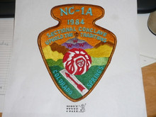 Section / Area NC1A Order of the Arrow Conference Jacket Patch, 1984