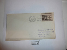3 Sent Boy Scout Stamp on envelope cancelled at the South Pole in 1956