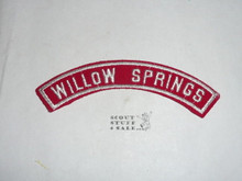 WILLOW SPRINGS Red/White Boy Scout Community Strip