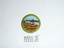Soil and Water Conservation - Type H - Fully Embroidered Plastic Back Merit Badge (1972-2002)