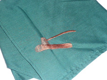 Wood Badge Neckerchief (Axe and Log) Green cloth with brown axe and log