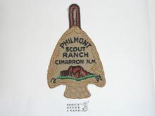Philmont Scout Ranch Arrowhead Trek Patch, Gauze Back Attached to Leather