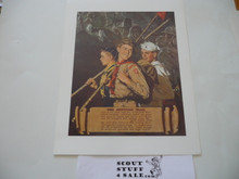 Norman Rockwell, The Scouting Trail, 11x14 On Heavy Cardstock