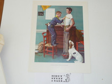 Norman Rockwell, To Keep Myself Physically Strong Print, 11x14 On Heavy Cardstock
