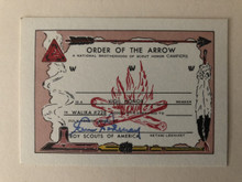 RARE Walika O.A. Lodge #228 Vigil Member Card, Original Ink Signature by Urner Goodman