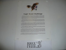 Eagle Scout Challenge, 1989 Printing, Suitable For Framing