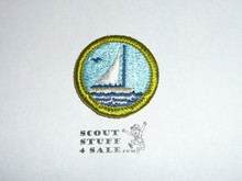 Small Boat Sailing - Type H - Fully Embroidered Plastic Back Merit Badge (1972-2002)