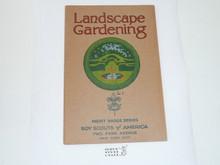 Landscape Gardening Merit Badge Pamphlet , 3-36 Printing