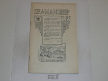 Seamanship Merit Badge Pamphlet, 1923 Printing