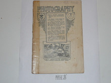 Photography Merit Badge Pamphlet, 1920, Taped Spine