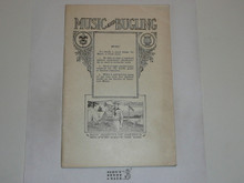 Music and Bugling Merit Badge Pamphlet, 1923 Printing