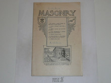 Masonry Merit Badge Pamphlet, 1922 Printing