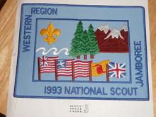 1993 National Jamboree Western Region Jacket Patch