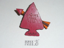 Order of the Arrow Lodge #252 Siwinis 1950's Torchy Neckerchief Slide - Scout