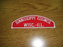 Sinnissippi Council Red/White Council Strip - Scout