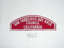 SAN FRANCISCO BAY AREA COUNCIL Red/White Boy Scout Council Strip