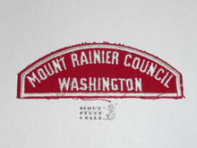 Mount Rainer Council Red/White Council Shoulder Patch - Boy Scout