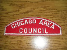 Chicago Area Council Red/White Council Strip - Scout