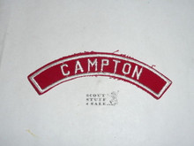 CAMPTON Red/White Boy Scout Community Strip