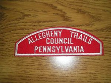 Allegheny Trails Council Red/White Council Strip -Scout