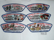 2010 National Jamboree JSP - Greater St. Louis Council, 6 patch set